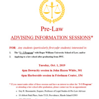 Pre-Law Advising Information Harborside Session
