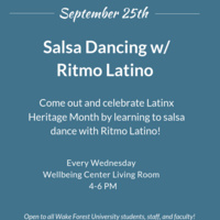 Wellbeing Wednesday - Salsa Dancing with Ritmo Latino