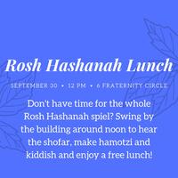 Rosh Hashanah Lunch