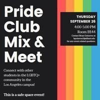 Pride Club Mix & Meet