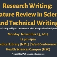 Research Writing: Literature Review in Scientific and Technical Writing