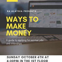 Ways to Make Money:  A Guide to Applying for Summer Jobs & Internships