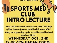Veterinary Sports Medicine Club Introductory Lecture