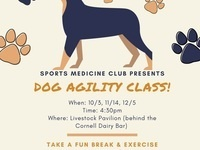 Dog Agility Classes hosted by Sports Medicine Club