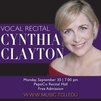 Guest Artist Series: Cynthia Clayton, voice