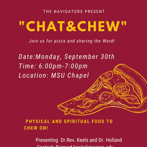 Chat and Chew at the University Memorial Chapel!