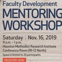 Faculty Development Mentoring Workshop