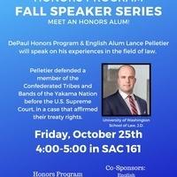Honors Program Fall Speaker Series: Lance Pelletier
