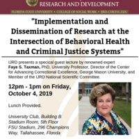 Public lecture by Faye S. Taxman, PhD