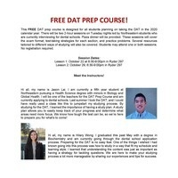 FREE DAT Prep Course
