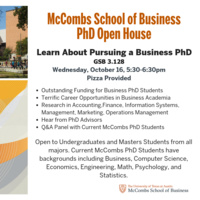 McCombs School of Business, PhD Open House