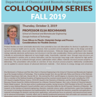 ChBE Seminar Series - Dr. Elsa Reichmanis