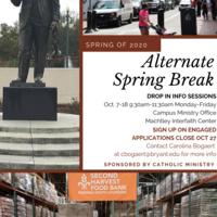 Alternative Spring Break Info Sessions