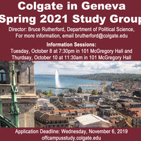 Spring 2021 Geneva Study Group Info Session