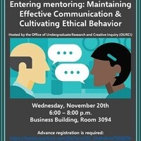 Entering Mentoring: Maintaining Effective Communication & Cultivating Ethical Behavior