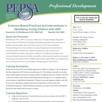PEPSA: Evidence-Based Practices and Interventions in Identifying Young Children with ASD