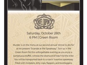 Scandal at the Speakeasy - Murder Mystery Dinner at HOTEL DU PONT