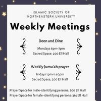 Islamic Society of NU: Deen and Dine
