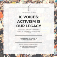 IC Voices: Activism is Our Legacy
