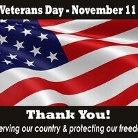 ALL RVED OFFICES are CLOSED today in observance of Veteran's Day
