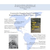 Communities Engaging Export Capitalism: Bengal and Mexico in a World of Change, 1850-1950
