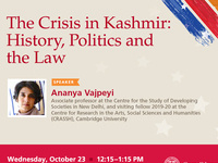 The Crisis in Kashmir: History, Politics and the Law