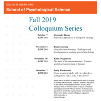 SPS Fall 2019 Colloquium - Kathy Magnusson, Principal Investigator, Linus Pauling Institute & Professor, Department of Biomedical Sciences, College of Veterinary Medicine