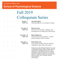 SPS Fall 2019 Colloquium - Emily Plackowski, Focus groups of adults with rare disorders: Asking those with a stake in the answer