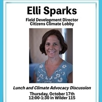 Lunch and Climate Advocacy Discussion with Elli Sparks