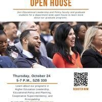 Educational Leadership and Policy Department Open House