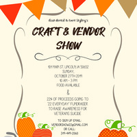 Craft & Vendor Show Fundraiser 22 Everyday Veteran Suicide