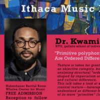 "Dr. Swami Coleman presents ""'Primitive Polyphony' or, When Things Are Ordered Differently (in Improvisation)"