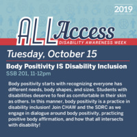 Disability Awareness Week: Body Positivity IS Disability Inclusion