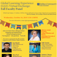 Global Learning Experience (GLE)- Virtual Exchange : Fall Faculty Panel