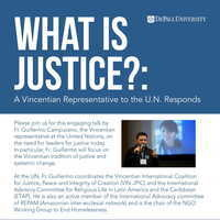 What is Justice?: A Vincentian Representative to the UN Responds