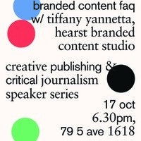 Creative Publishing and Critical Journalism Speaker Series - Branded Content
