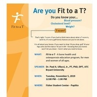 WELLNESS:  Are You Fit to a T?