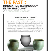 Printing the Past: Innovative Technology in Archaeology at Florida State University