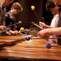 UMBC and Salisbury Percussion Ensembles