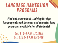 Study Abroad - Language Immersion Programs