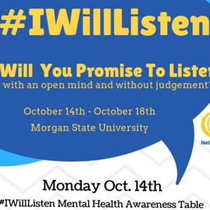 #IWillListen Week (Mental Health Awareness)