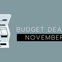 Budget Deadline - November 8