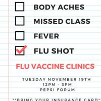Student (age 19+) Flu Vaccine Clinic