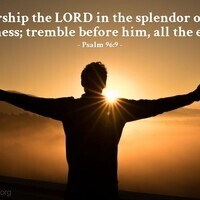 Verse of the Day - Psalm 96:9