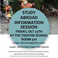 STUDY ABROAD INFORMATION SESSION - THEATRE STUDENTS