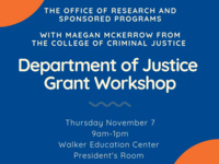 Department of Justice Grant Workshop
