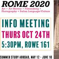 Rome 2020 Summer Study Abroad Info Session