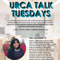 URCA Talk Tuesday with Gabby Birog (Research in History)