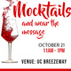 Mocktails and Wear the Message - Alcohol Awareness and Crime Prevention Week
