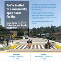 Open House in Newhall - Pedestrian and Bicycle Master Plan